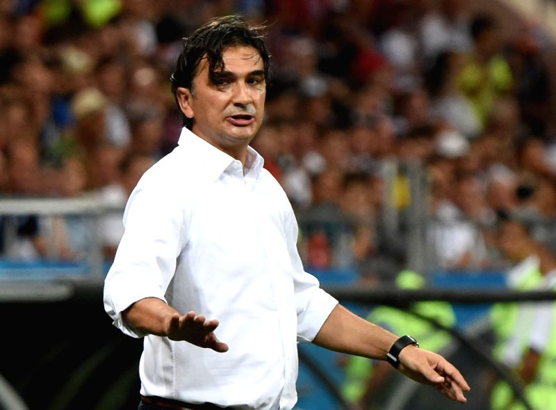 ROSTOV-ON-Croatia's head coach Zlatko Dalic reacts during the 2018 FIFA World Cup Group D match between Iceland and Croatia in Rostov-on-Don, Russia, June 26, 2018.(Image Source: Xinhua/He Canling/IANS)