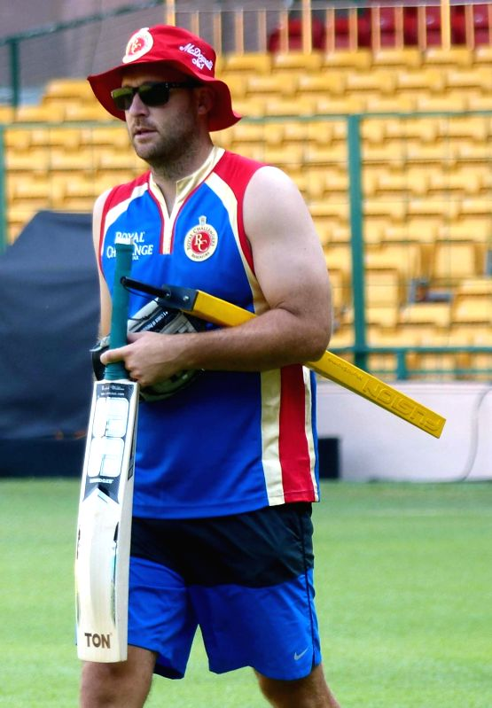 Royal Challengers Bangalore head coach Daniel Vettori during a practice session ahead of IPL Season 9 at Chinnaswamy Stadium, in Bengaluru on April 5, 2016.