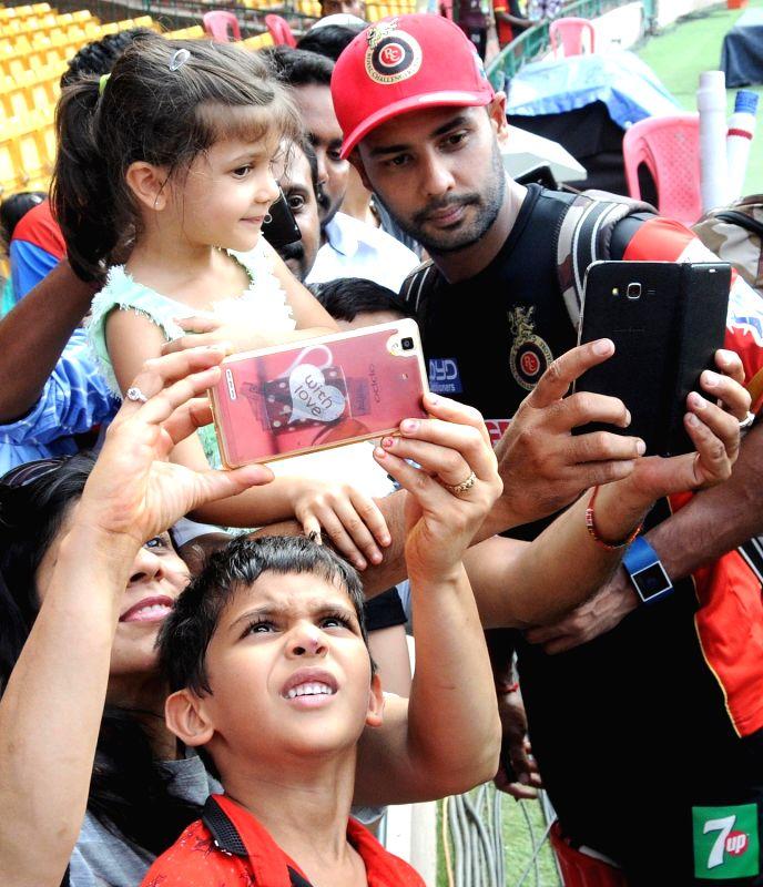Royal Challengers Bangalore player Stuart Binny at Chinnaswamy Stadium, in Bengaluru on May 13, 2016.
