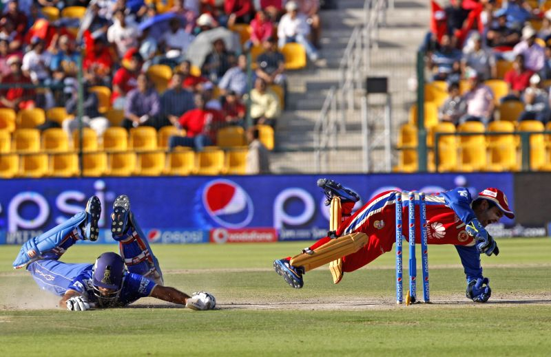 Royal Challengers Bangalore wicket keeper Parthiv Patel in action during the 14th match of IPL 2014 between Royal Challengers Bangalore and Rajasthan Royals, played at Sheikh Zayed Stadium in Abu ... - Parthiv Patel