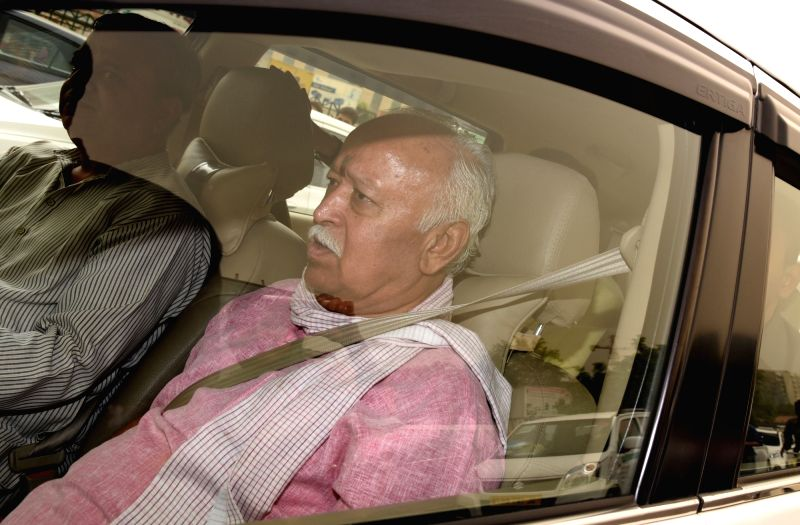 RSS chief Mohan Bhagwat arrives at AIIMS to visit former Prime Minister Atal Bihari Vajpayee who is undergoing treatment for urinary tract infection at the hospital in New Delhi on June ... - Atal Bihari Vajpayee
