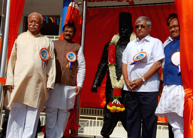 RSS chief Mohan Bhagwat at the inauguration of the newly constructed DR Hedgewar School in Bambolim on Dec 6, 2015.