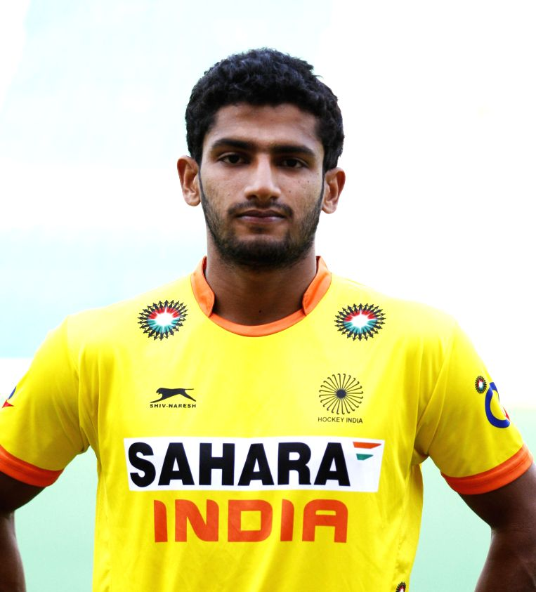 Rupinder Pal Singh who was selected in the Indian Men Hockey Team for upcoming Hockey World Cup 2014 which is scheduled to begin on 31st May 2014 in The Hague, Netherlands. - Rupinder Pal Singh