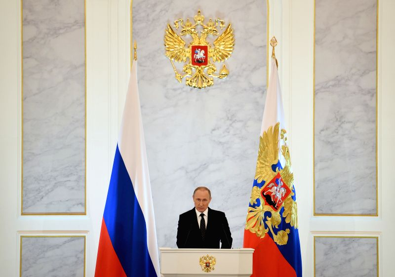 Russian President Vladimir Putin delivers his annual State of the Union address to the Federal Assembly in the Kremlin, Moscow, Russia, on Dec. 3, 2015. Turkey will ...