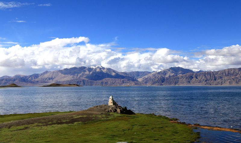 Photo taken on July 1, 2014 shows the scenery of the wetland of the Lake Palgon in Rutog County, southwest China's Tibet Autonomous Region. The wetland of the Lake ...