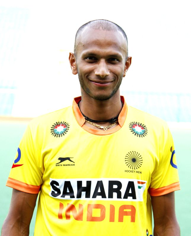 S V Sunil who was selected in the Indian Men Hockey Team for upcoming Hockey World Cup 2014 which is scheduled to begin on 31st May 2014 in The Hague, Netherlands.