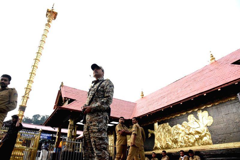 Sabarimala temple in Kerala . (File Photo: IANS)