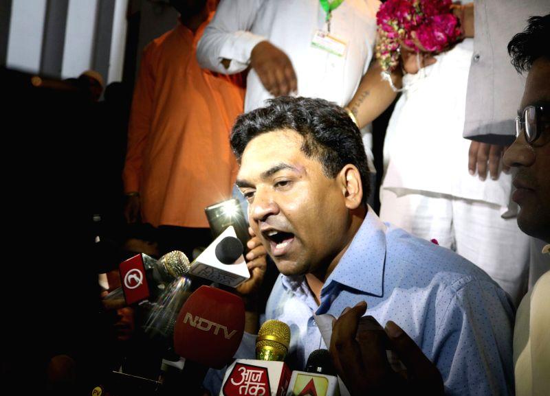 Sacked Delhi Minister Kapil Mishra talks to press in New Delhi, on June 2, 2017. - Kapil Mishra