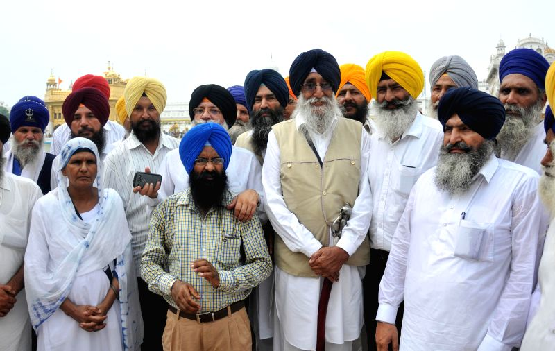 SAD (Amritsar)​ President Simranjit Singh Mann pays obeisance at the Golden Temple in Amritsar on July 27, 2014.