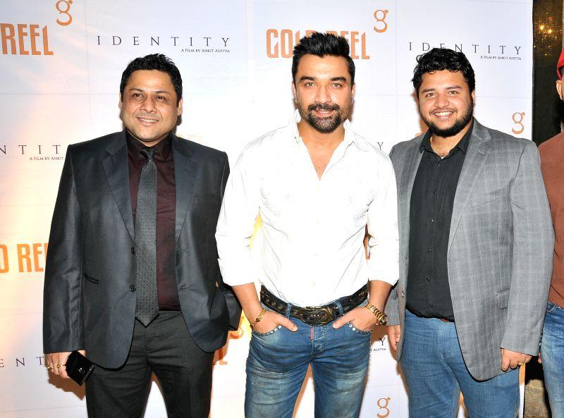 Sahadeb Chowdhury  with Ajaz Khan & Anirban Aditya during the Gold Reel Productions launch party in Mumbai Dec 1, 2015 - Ajaz Khan