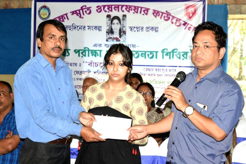 Saidul Laskar, Srishti Ghosh and Dr. Dhiresh Chowdhury during the inauguration of the hospital.