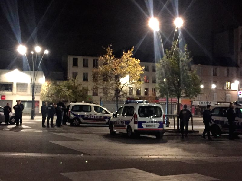 SAINT-DENIS, Nov. 18, 2015   French policemen block roads near the area of an anti-terrorist police assault in northern Paris suburbs Saint-Denis, France, on Nov. 18, 2015. An anti-terrorist ...