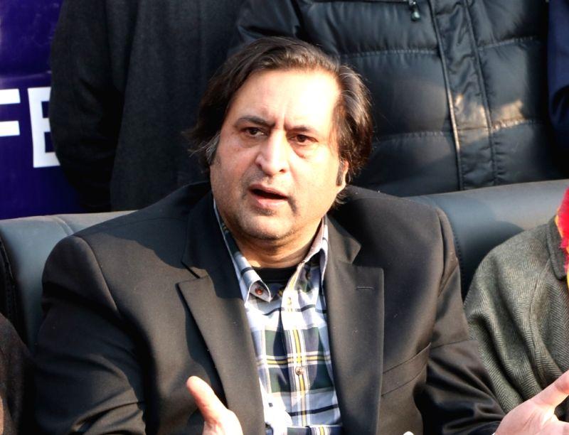 Sajad Gani Lone. (File Photo: IANS)
