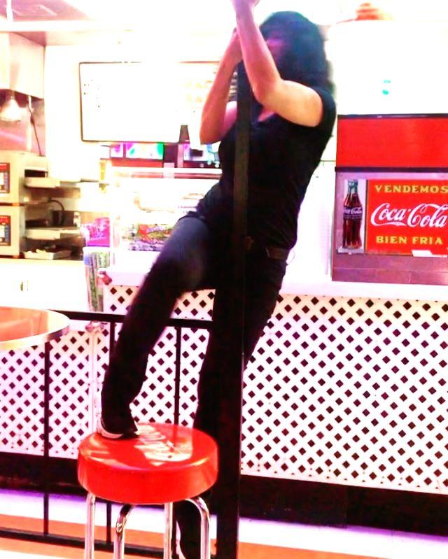 Salma Hayek shares her version of pole dance