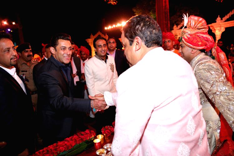 Salman Khan congratulating the Chaudhary family - Salman Khan