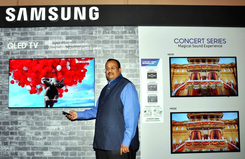 Samsung India Senior Vice President (Consumer Electronics Business) Raju Pullan during a press conference on Television Technology, in Kolkata on June 14, 2018.