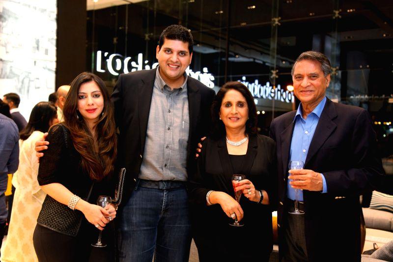 Samvit Tara, Managing Director, Roche Bobois India with Alesha Tara, Aruna Tara and Ramesh Tara during Roche Bobois store launch in Bangalore on Nov 28, 2015.