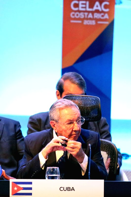 Cuban President Raul Castro takes part in the 3rd Summit of the Community of Latin American and Caribbean States (CELAC) in San Antonio de Belen, Costa