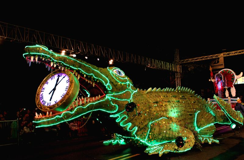 "San Jose: Residents of Costa Rica attend the traditional ""Light Festival"" 2014, in San Jose, capital of Costa Rica, on Dec. 13, 2014."