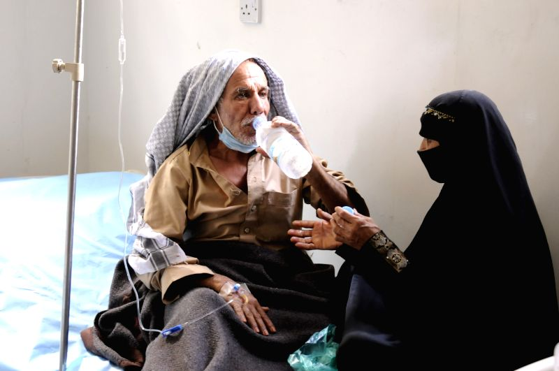 SANAA, May 7, 2017 - A Yemeni(R) suffering from cholera gets treatment at a hospital in Sanaa, Yemen. A total of 69 new cases of cholera were registered to a state-run hospital in Yemen's capital of ...