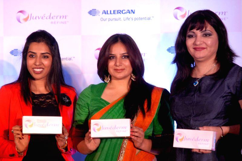 Pooja Gandi launching the Allergan Healthcare India new