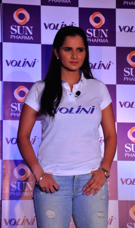 Sania Mirza during a programme in Hyderabad on Nov 17, 2015.