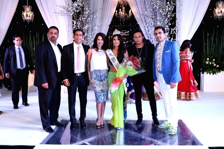 Sanjay Agnihotri and Gautam Sharma the organisers of Miss India-Canada, actress Isabelle Kaif, newly-crowned Miss India-Canada Annu Gaidhu and R&B singer Raghav during inauguration of 24th Miss .. - Isabelle Kaif and Gautam Sharma