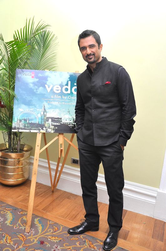 Sanjay Suri during the muhurat of Vistaar Film Fund`s and WSG Picture latest film Veda, in Mumbai, on Aug. 26, 2014.