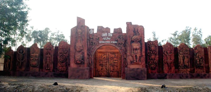 The venue of Adi Bimb - a three-day long national festival of tribal dance, music and theatre organised by  National School of Drama at Dwaranda village in Santiniketan, 12 km away from