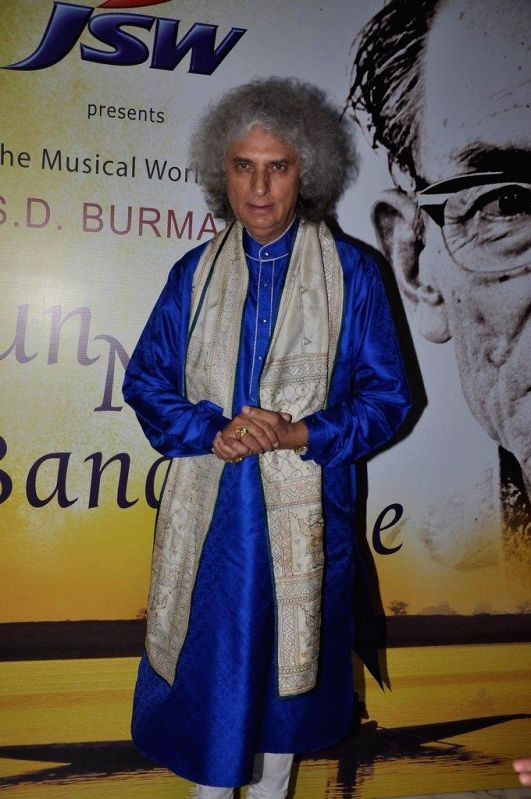 Santoor player Pandit Shiv Kumar Sharma during the book launch `Sun Mere Bandhu Re-The Musical World of S D Burman` by Sathya Saran in Mumbai, on August 8, 2014.