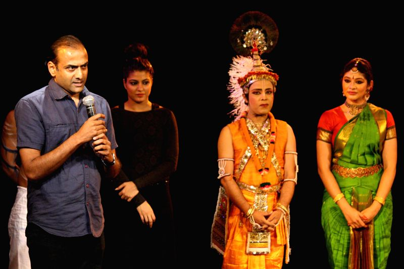 Santosh Nair during 'World Dance Day' - a programme in New Delhi on April 27, 2014.