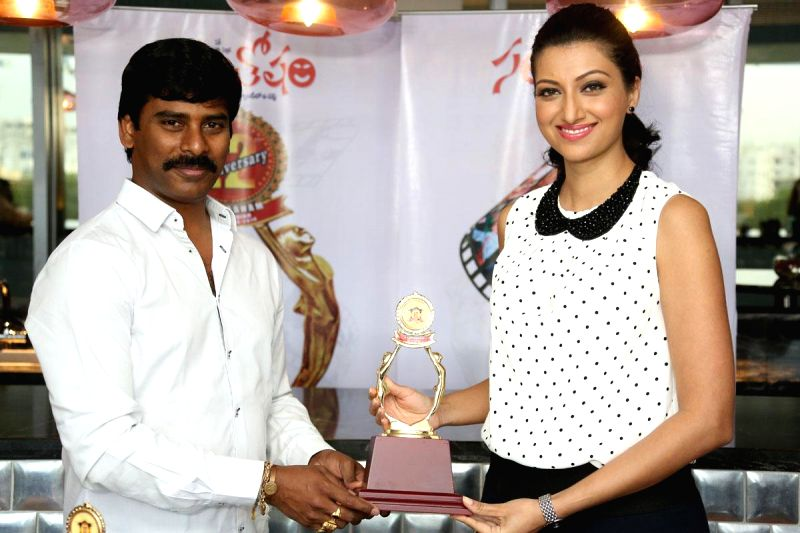 Santosham South Indian film awards function.