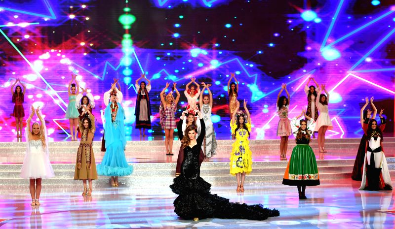SANYA, Nov. 18, 2017 - Contestants perform at the final of the 67th Miss World Competition in Sanya, south China's Hainan Province, Nov. 8, 2017. One hundred and twenty-six contestants from 126 ...