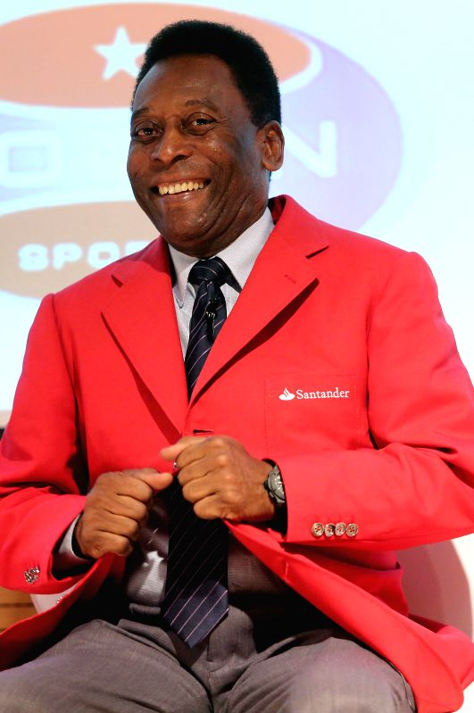 Former soccer player Edson Arantes do Nascimento, better known as Pele, participates in the First Meeting of Sport Management at the Convention Center of Torre ..