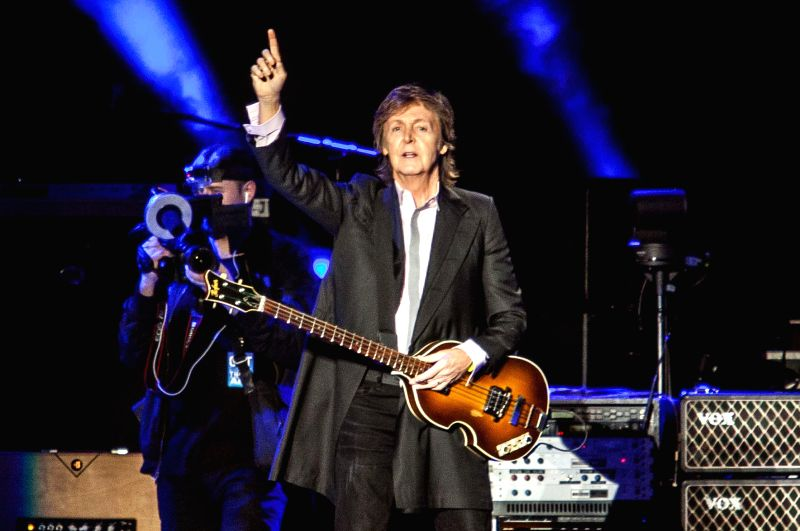 Sao Paulo: British singer Paul McCartney performs during a concert in the Allianz Parque Stadium in Sao Paulo, Brazil, on Nov. 26, 2014.