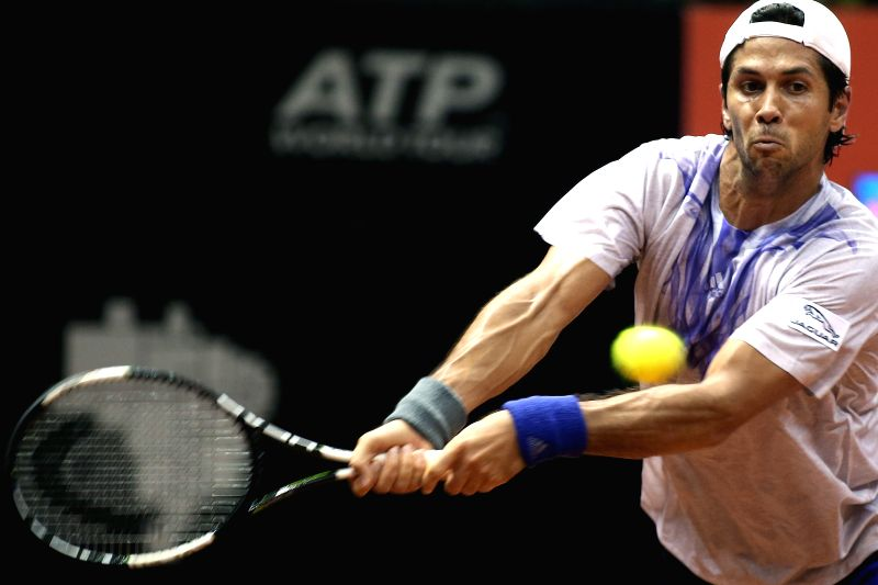 Spain's Fernando Verdasco returns the ball to Argentina's Maximo Gonzalez during a match at the 2015 ATP Brazil Open in Sao Paulo, Brazil, on Feb. 10, 2015. ...