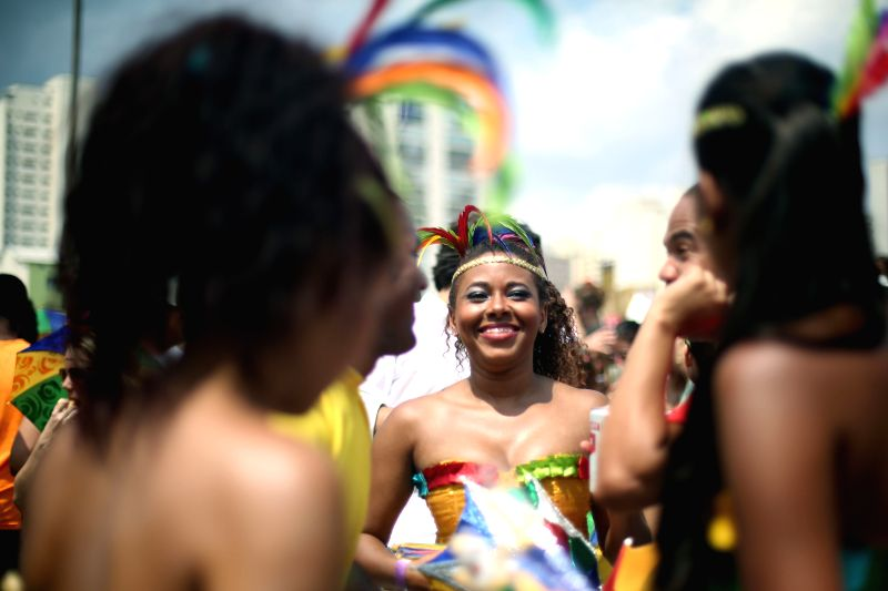 "Dancers take part in ""Bicho Maluco Beleza"", a street block parade during post carnival festivities at Sumare neighborhood in Sao Paulo, Brazil, on Feb. ..."