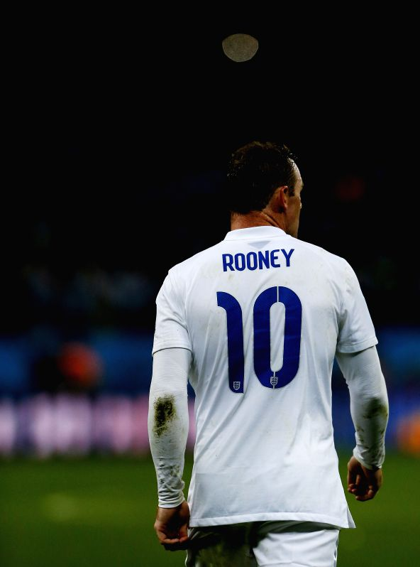 England's Wayne Rooney reacts after a Group D match between Uruguay and England of 2014 FIFA World Cup at the Arena de Sao Paulo Stadium in Sao Paulo, Brazil, ...