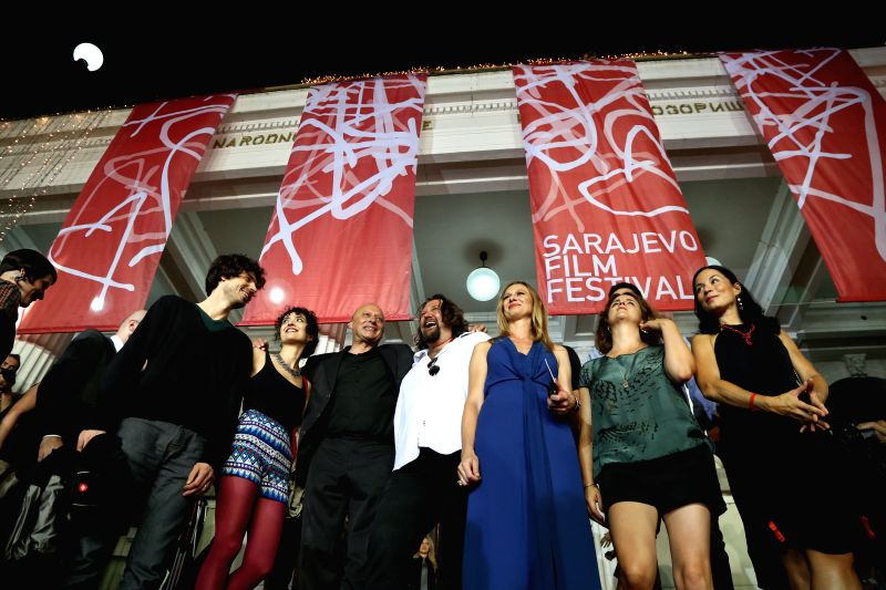 Guests attend the opening ceremony of the 20th Sarajevo Film Festival in Sarajevo, Bosnia and Herzegovina, on Aug. 15, 2014. The 20th Sarajevo Film Festival opened
