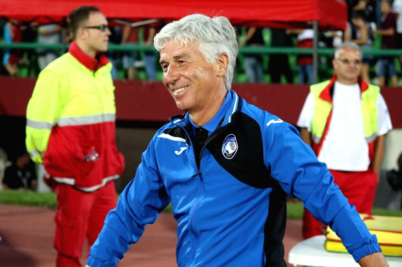 SARAJEVO, Aug. 3, 2018 - Atalanta's head coach Gian Piero Gasperini walks at the stadium during the second qualifying round match of UEFA Europa League between Sarajevo and Atalanta in Sarajevo, ...