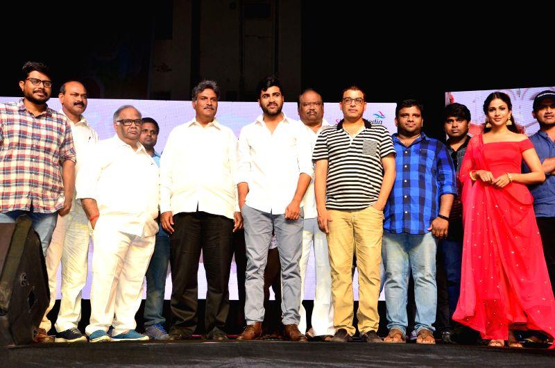 Sarvanand, Lavanya Tripathi acting Radha Movie pre release function held at Sidhardha College at Vijayawada on May 6, 2017 - Lavanya Tripathi
