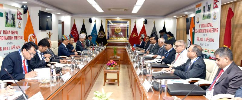 Sashastra Seema Bal Director General Rajni Kant Mishra and Nepal's Inspector General of Armed Police Force Shailendra Khanal lead the respective delegations, during the 3rd India-Nepal ... - Rajni Kant Mishra