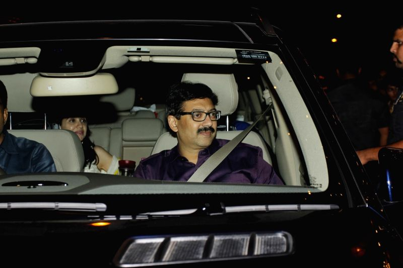 Screenwriter Abhijat Joshi arrive to attend the Amitabh Bachchan's Diwali party in Mumbai on Nov 11, 2015. - Abhijat Joshi