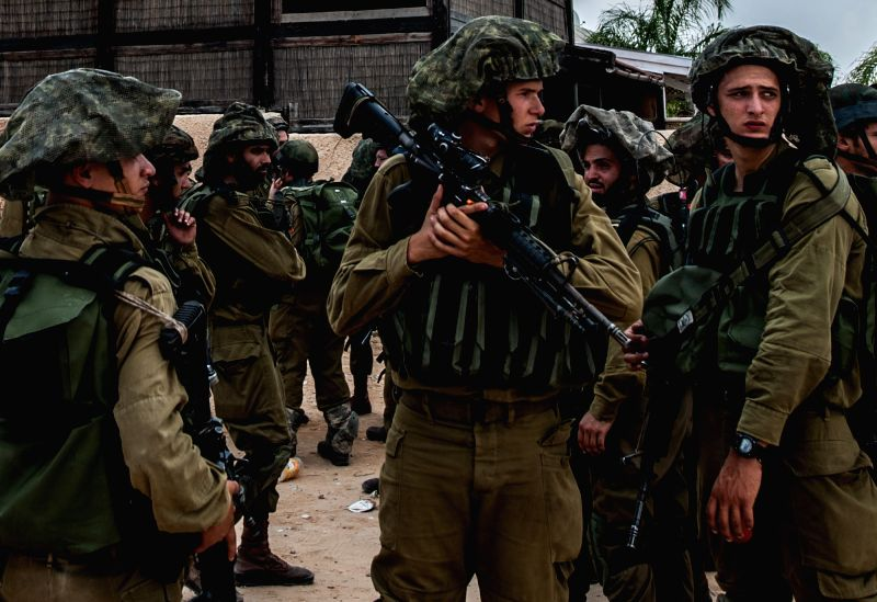 SDEROT (south Israel), July 22, 2014 Israeli soldiers participate in a military operation in Sderot, south Israel bordering the Gaza Strip, on July 21, 2014, the 14th day of Israel's ...