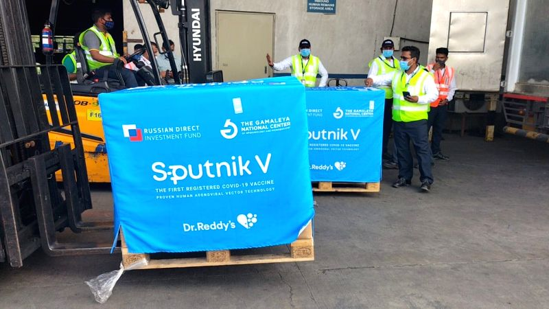second consignment of Sputnik lands in Hyderabad