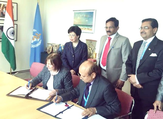Secretary, AYUSH Ajit Mohan Sharan and the Assistant Director General, Health Systems and Innovations, WHO, Dr. Marie Kieny signs the landmark agreement for collaboration in traditional ...