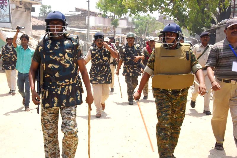 Security beefed up after an attack on HAM leader Jitan Ram Manjhi's convoy near Dumariah in Bihar on May 26, 2016.