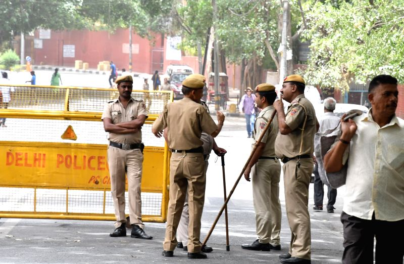Security beefed up at Raj Niwas, where Delhi Chief Minister Arvind Kejriwal and three cabinet ministers spent Monday night and continued their protest for a second day in New Delhi on June ... - Arvind Kejriwal