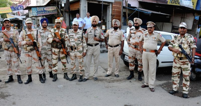 Security beefed up in Amritsar ahead of anniversary of Operation Blue Star on May 30, 2016.