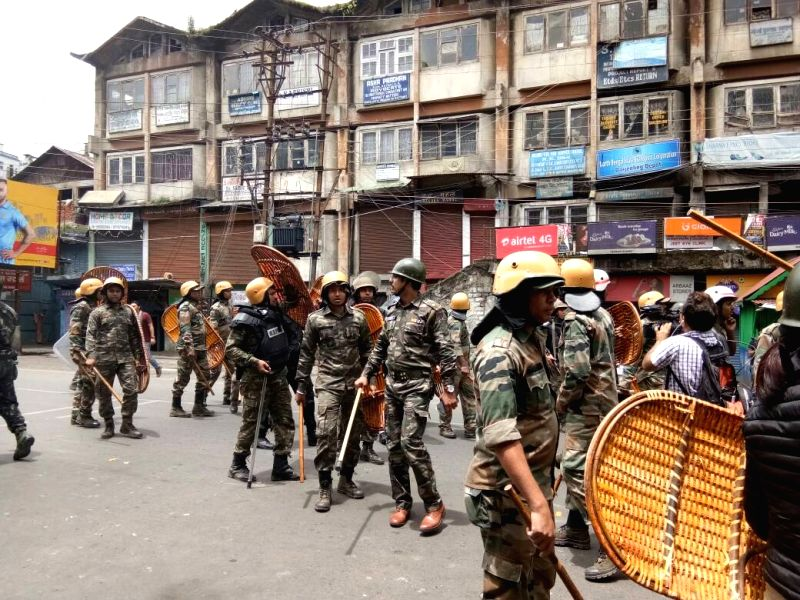 Security beefed up in Darjeeling after Gorkha Janamukti Morcha (GJM) supporters clashed with police during a protest rally Gorkha Janamukti Morcha (GJM) supporters clashed with police ...